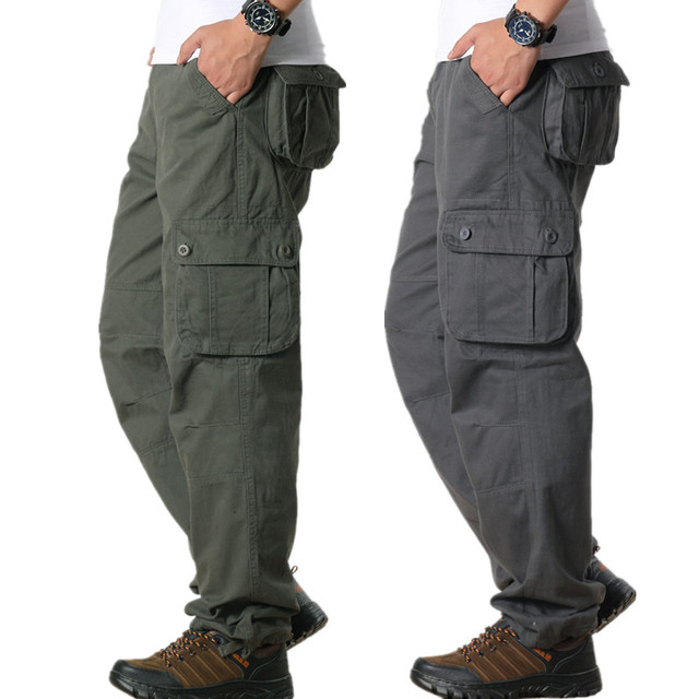 327bb697ded9a Tactical Pants Male Camo Jogger Casual Plus Size 44 Cotton Trousers Multi  Pocket Military Style Army Camouflage Mens Cargo Pants