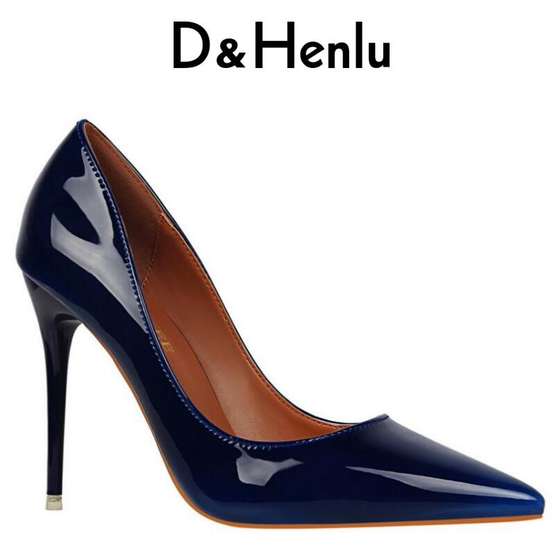{D&Henlu} Brand Women's Sexy Gradient Color Nightclub High Heels Women Pumps Stiletto Thin Heel Pointed Toe High-heeled Shoes sgesvier 2017 spring summer women pumps sweet high heeled shoes thin high heel shoes hollow pointed stiletto elegant tr007