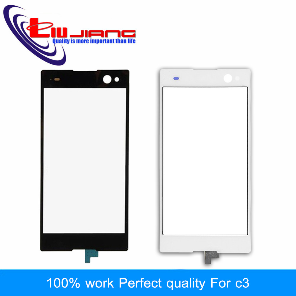 Liujiang New For Sony C3 D2533 D2502 S55U S55 Touch Screen Panel Digitizer Glass Sensor Lens Repair Parts