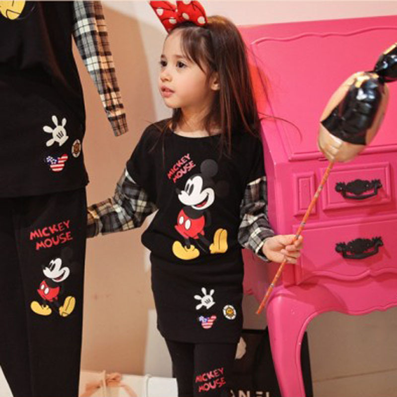 Kids Boys Girls Mickey Mouse Long Sleeve T-Shirt Cartoon Blouse Tops Shirt Tee