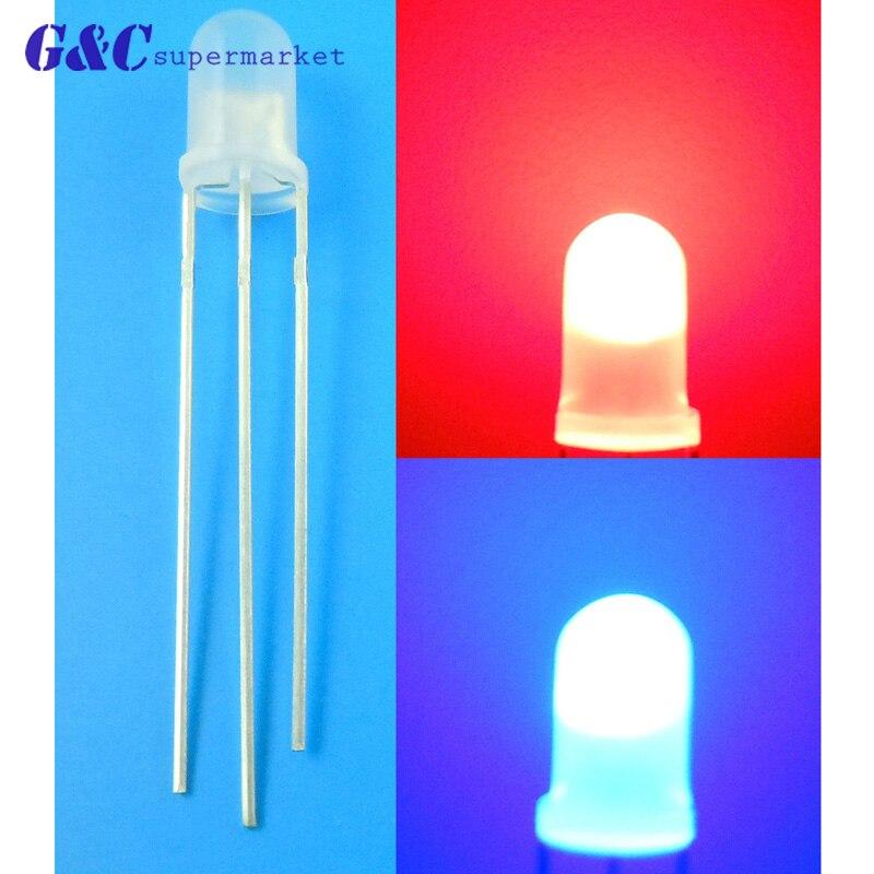 50Pcs Led Diffused Milk Blue F3 3Mm Blue Light Super Bright Bulb Lamp i