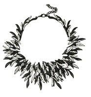 Women High Quality Costume Retro Vintage Zinc Alloy Necklace Bold Metal Chunky Necklace Matte Black Gold