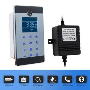 Image 4 - 1 takım (denetleyici + trafo + havalandırma fanı + hoparlör + ışık + ozon) dokunmatik ekran büyük LCD ekran serbest telefon duş kabini
