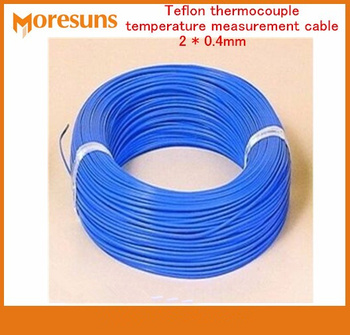 Free Ship 20M lot K Type Blue THERMO COUPLE WIRE Thermocouple Thermocouple Temperature Measurement Cable 2