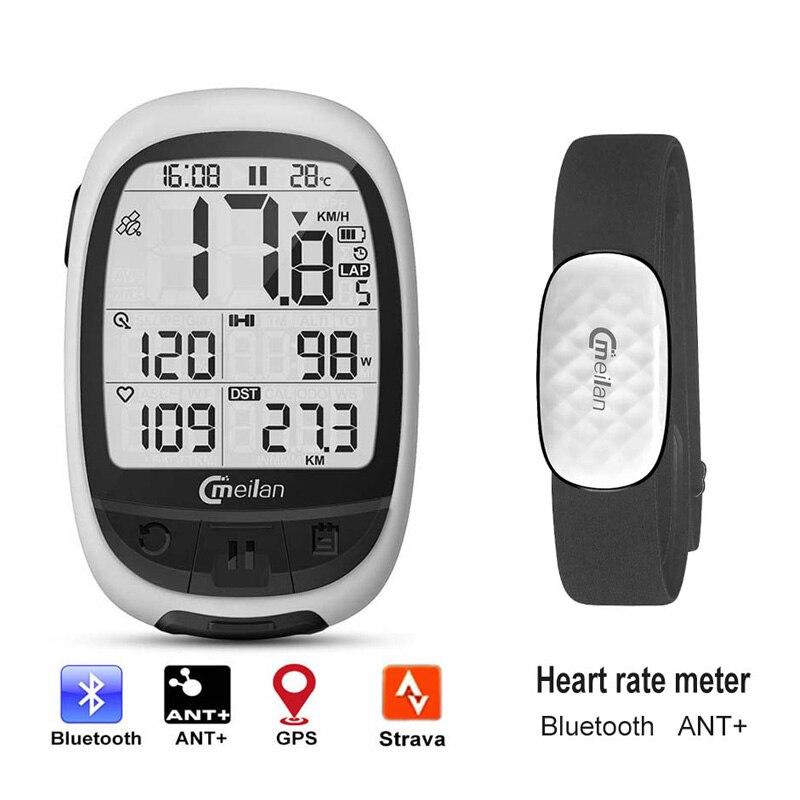 Vélo gps ordinateur Bluetooth ANT + ordinateur de cyclisme Meilan M2 support connecter avec cadence fréquence cardiaque compteur de puissance (non inclus)