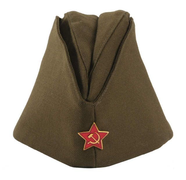 a6e343091 US $18.85 8% OFF|WWII USSR SOVIET MILITARY ARMY GARRISON CAP WITH BADGE XL  35381-in Men's Military Hats from Apparel Accessories on Aliexpress.com |  ...