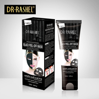 DRRASHEL Suction Black Mask Nose Blackhead Remover Peel Off Facial Mask Acne Treatment Collagen With Bamboo