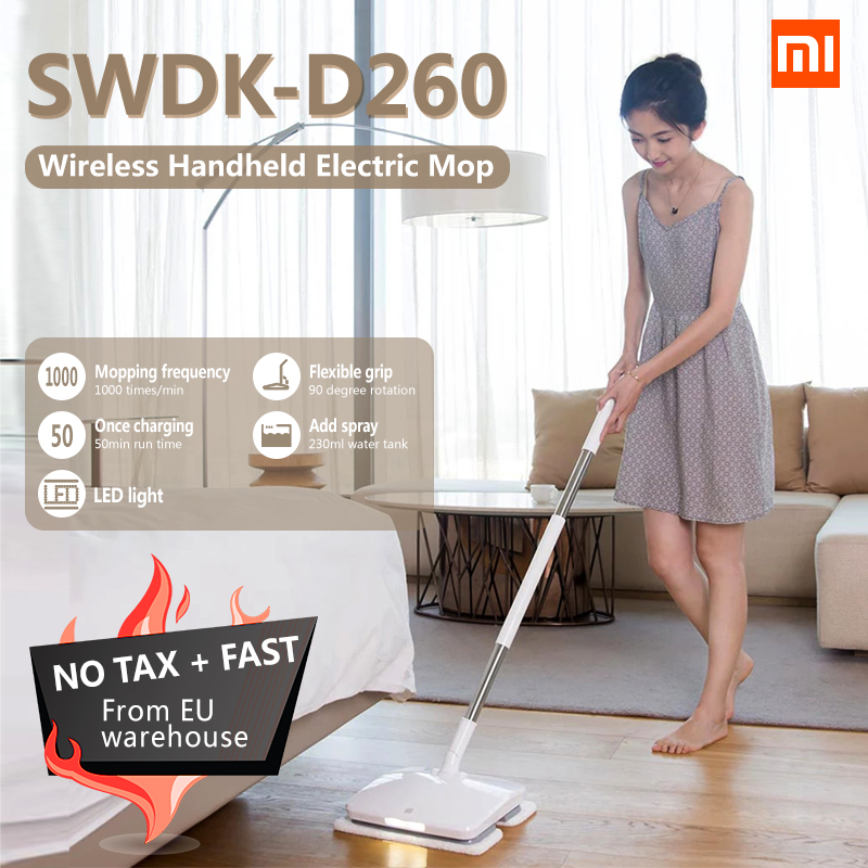 xiaomi mijia swdk d260 handheld wireless electric floor mop wiper floor washer wet mopping robot. Black Bedroom Furniture Sets. Home Design Ideas