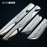 2012 2013 2014 Hyundai Elantra Stainless Steel Side Door Sill Scuff Plate Car Accessories