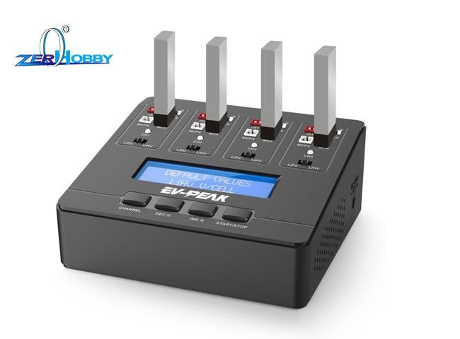 EV-PEAK E6 AC Input 100-240V 4.35W / 1A x 4 1s Li-Ion LiHV Battery Balance Charger