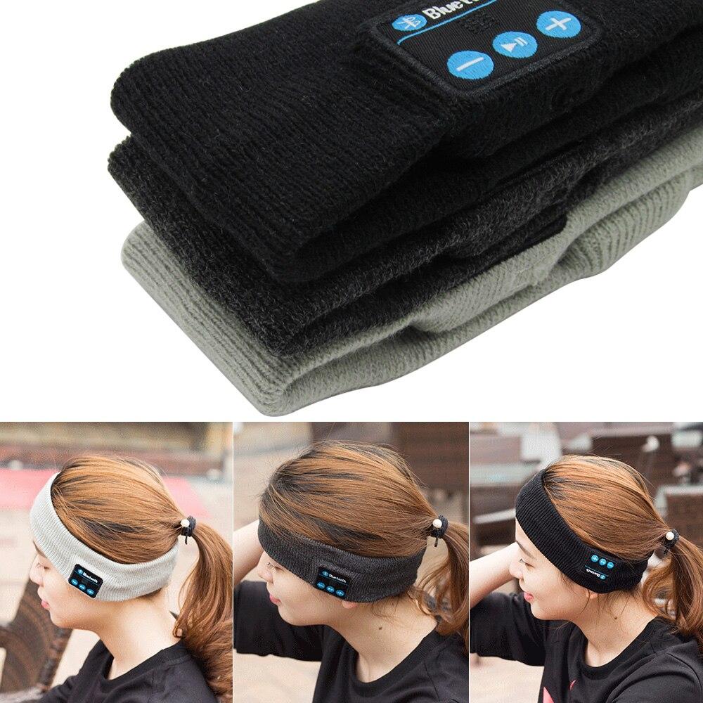 Sans fil Bluetooth Musique Chapeau Bandeau pour les Sports Casque Avec Micro Mains Libres pour Android IOS téléphones Pour Courir Loisirs Musique