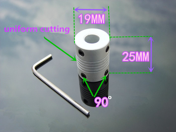 1pcs K547B Aluminum Motor Shaft Connector Elastic Flexible Coupling Coupler 20 Styles Shaft D19L25 DIY Car Boat Part Sell A Loss