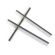 Лидер продаж 10 шт. 40 Pin 1x40 Однорядный Мужской 2,54 мм ломаемый штыревой разъем под прямым углом разъем изгиб полосы