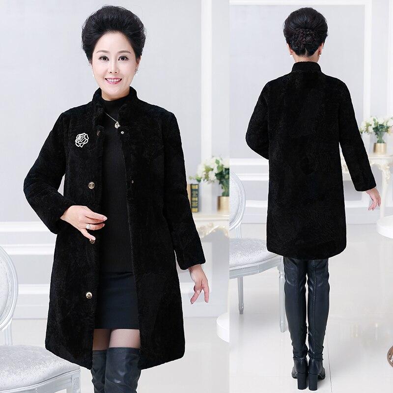 Женские утепленные пальто средней длины из натуральной шерсти, верхняя одежда, женские Куртки из натуральной шерсти, Большие Размеры M-8XL, но...