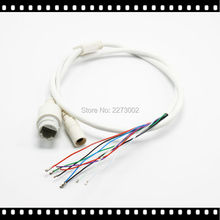 High Quality 9-Pin IP Camera Module Network Cable Pigtail 80cm 1/2/3/6 PoE RJ45 DC12V Power Supply 4In1 Waterproof Kit