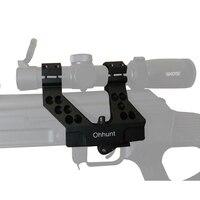 ohhunt Quick Detach AK Side Rail Scope Mount with Integral 1 Inch/30mm Ring For AK47 AK74 Black