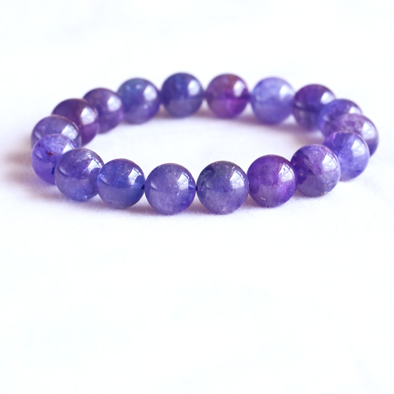 AAA High Quality Natural Genuine Tanzania Clear Purple Blue Tanzanite Stretch Finish Bracelet Round Big beads 11mm 05072AAA High Quality Natural Genuine Tanzania Clear Purple Blue Tanzanite Stretch Finish Bracelet Round Big beads 11mm 05072