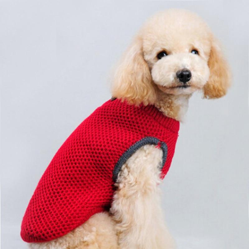 Algodón de punto suéteres del perro Lovely Pet ropa para perros ...