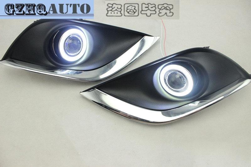 Car accessories angel eyes fog lights for Nissan Sunny 2014 Daytime ...