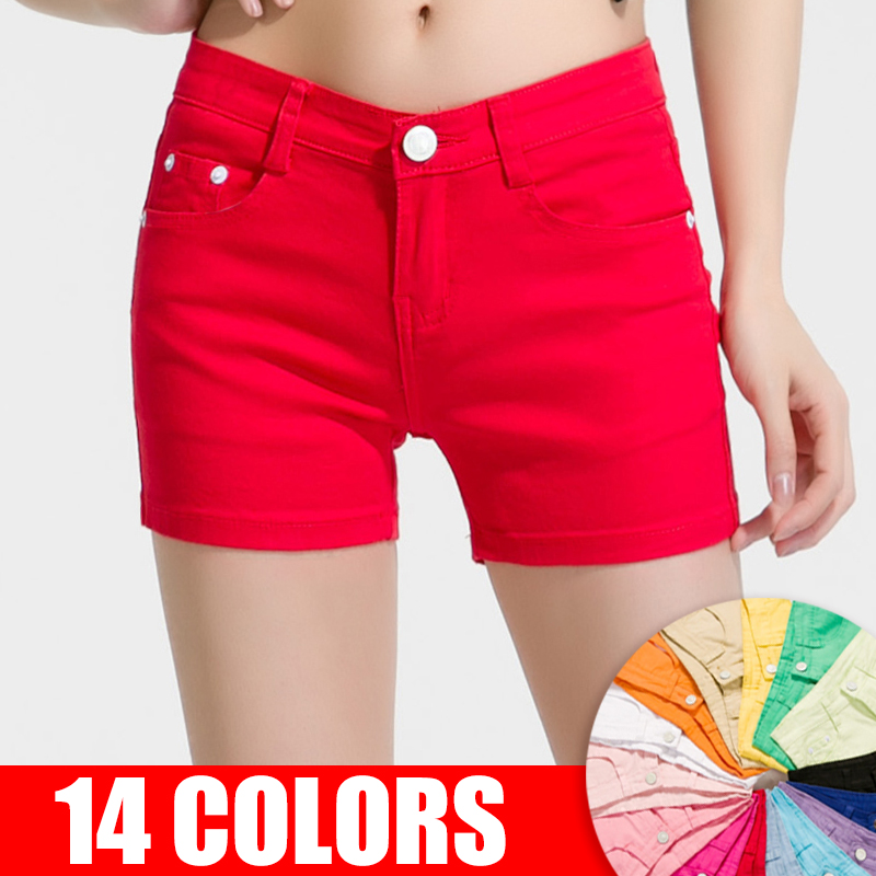 KarSaNy White Jean Shorts Women Summer Elastic Mini Short Pants Female Casual Shorts Women Denim Short Jeans Women's Summer