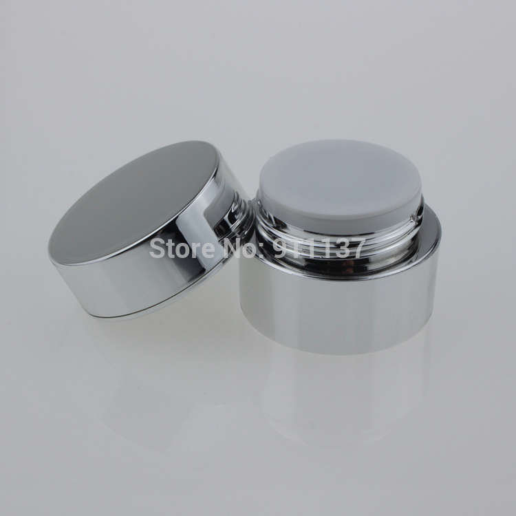 3000 pcs sliver 5g jar acrilico para unha polones pequenas embalagens de cosmeticos com tampa de
