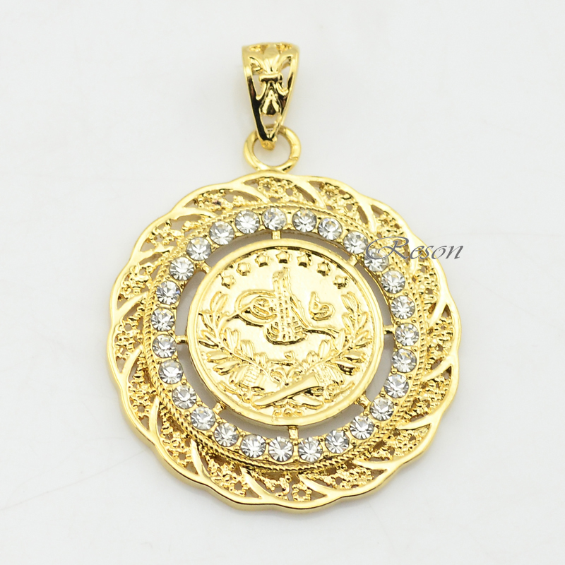 1pcs Men Women Pendant Chains Jewelry New Yellow Gold