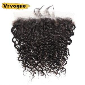 Image 2 - Vrvogue cheveux préplumés brésilien vague deau frontale couleur naturelle Remy cheveux humains 13x6 oreille à oreille dentelle fermeture frontale