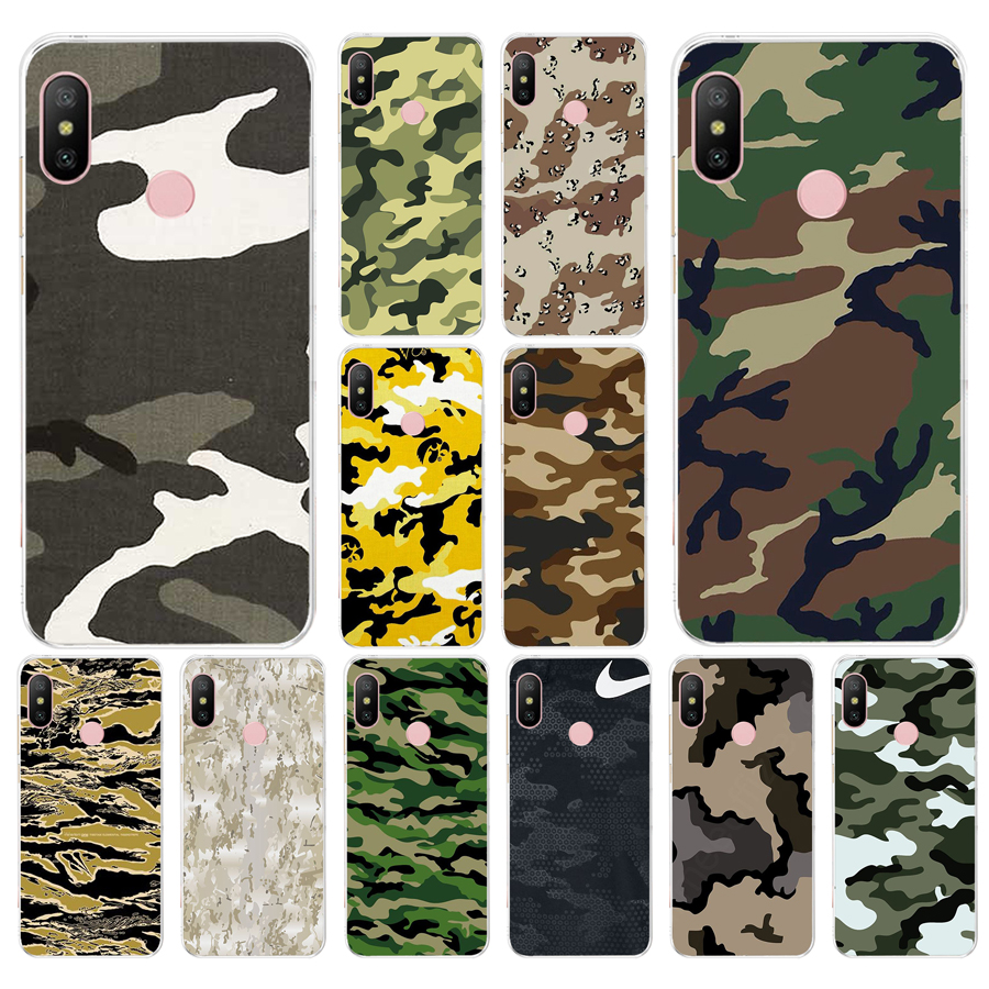 055FG Camouflage Muster Camo Armee Weiche Silikon Tpu Abdeckung telefon Fall für <font><b>xiaomi</b></font> <font><b>redmi</b></font> note 4A 4X6 Pro 6A image