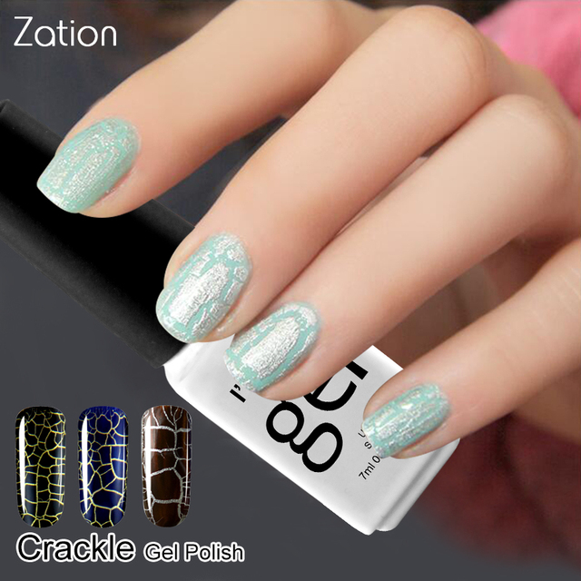 Zation Crackle Nail Polish Cracking Nail Gel Lacquer Crack Uv Gel