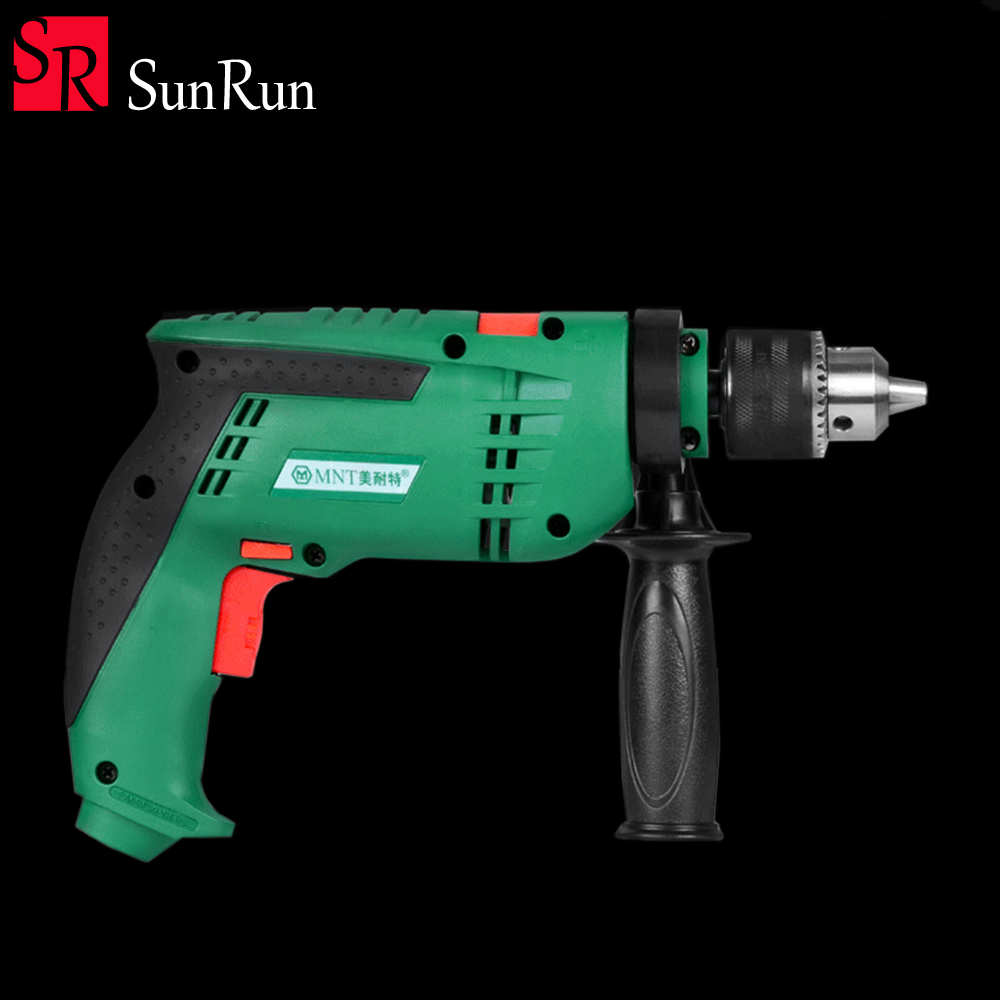 Electric Drill household hand 220V electric drill Multi function 13T dual purpose impact drill polishing multi purpose impact drill for household use la414413 upholstery drilling wall percussion impact drill set power tools 220v 810w