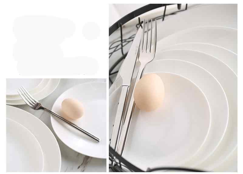 5,5 дюймов, простой белый поднос из костяного фарфора для суши, фарфоровые обеденные тарелки, керамическое блюдо для торта, кристально чистые десертные блюда