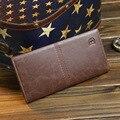2016 Baellerry Business Men's Wallets Solid PU Leather Long Wallet Portable Cash Purses Casual Standard Wallets Male Clutch Bag