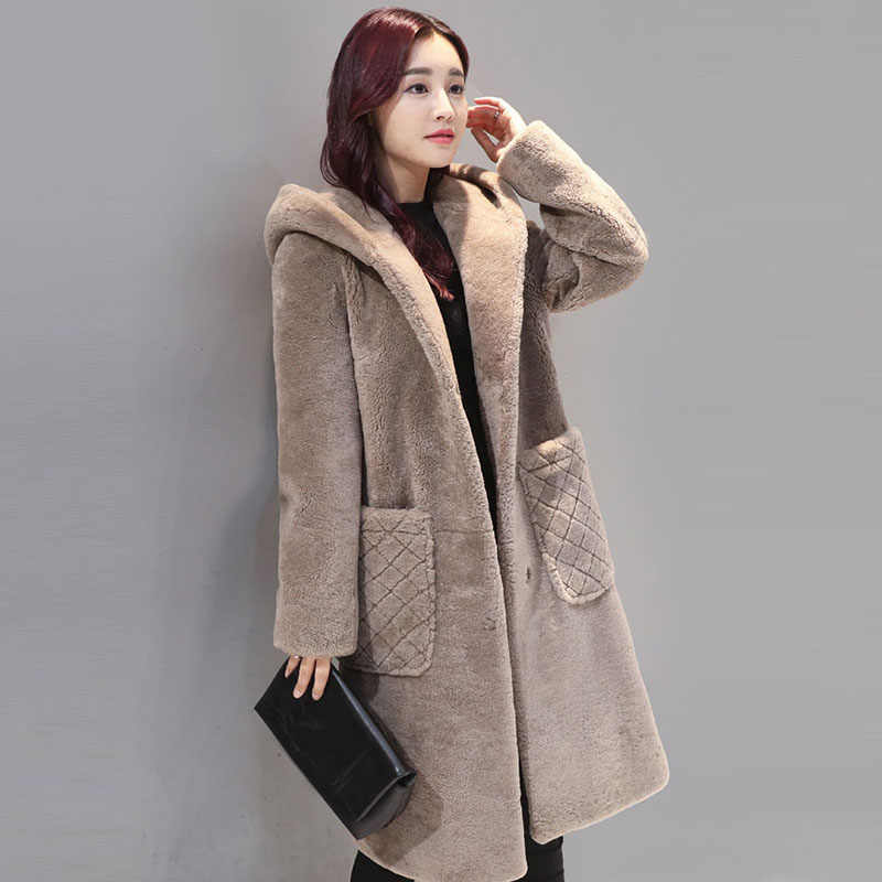 c7a911e725cb Detail Feedback Questions about 2018 New Winter Women alpaca jacket ...
