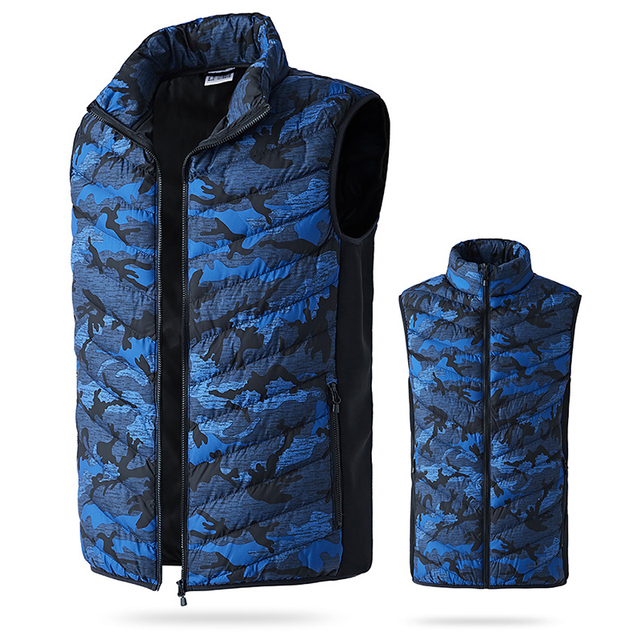 Toppick New Men&Women Electric Heated Vest Winter Thermal Warm Heating Vest Camouflage Heated Jacket Fishing Big Size Waistcoat 3