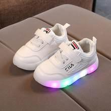 eb5b3049 Детская обувь с подсветкой, новинка 2019 года, Детские светящиеся кроссовки  для мальчиков светодио дный