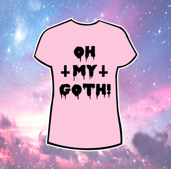 SATAN GOTH rosa t hemd pastell goth gothic grunge alternative harajuku japanischen slogan frauen mode grunge ästhetischen tees tops