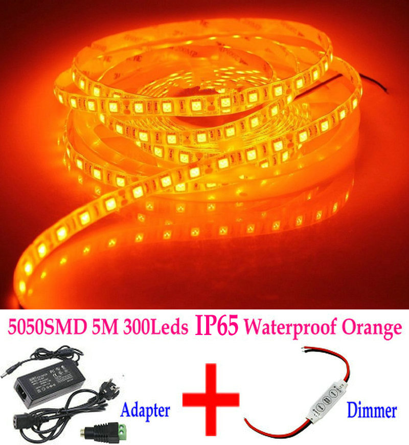 Super Bright 5M 12V SMD5050 Waterproof Flexible Red LED Strip Light Lamp IP65