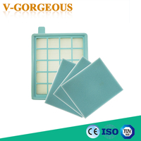 4pcs LotFilter Mesh HEPA FILTER BUFFALO MISTRAL For Philips Vacuum Cleaner FC8470 FC8471 FC8472 FC8473 FC8474