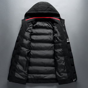 Image 4 - 2018 Brand Winter Jacket Men Warm Padded Hooded Overcoat Fashion Casual Down Parka Male Jacket And Coat Hoodies Outerwear 4XL