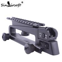 Ayrılabilir Taşıma Kolu ve arka görüş W / Picatinny Ray Dağı Combo M4 M16 AR15 See Through