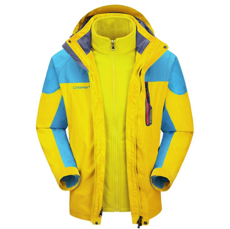 Creeper new Jackets Men autumn and winter section of the wind and rain breathable warm outdoor clothing fleece liner two sets