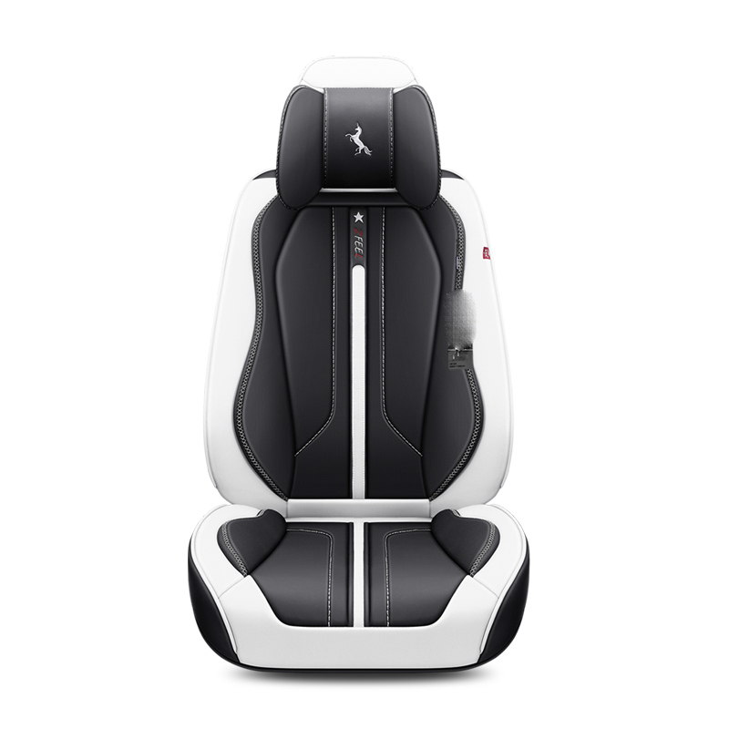 3D Cushion Leather Black Red Blue White Car Seat Cover For 5 Seats Car For Audi A1 A3 A4 A6 A7 B8 B7 B6 B5 C6 C7 A8 A8L Q3 Q5 Q7 2 front leather car seat cover for audi a3 a4 b6 b8 a6 a5 q7 beige red black waterproof soft pu leather car seat covers brand