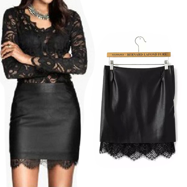 Aliexpress.com : Buy Sexy Black Leather Skirt Tights New Arrival ...