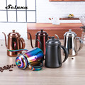Кофейник из нержавеющей стали  650 мл  с длинным горлышком и носиком  капельный чайник  кувшины для кофе  чайник  кофейник для бариста