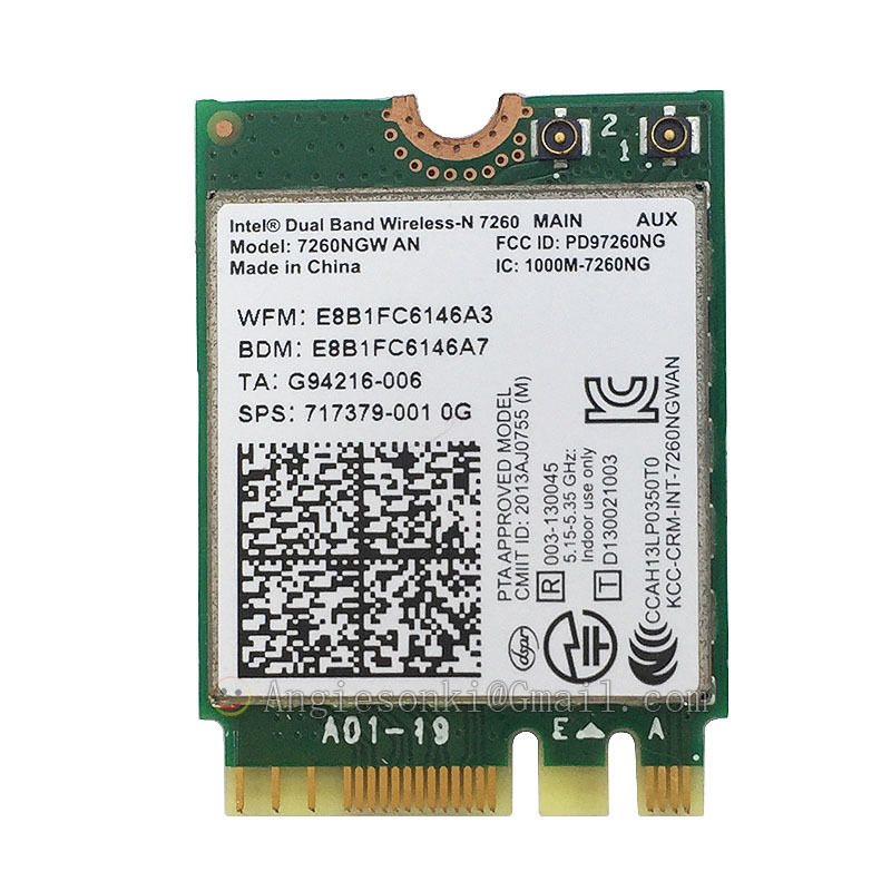 717379-001 DUAL BAND 7260NGW AN NGFF Bluetooth 4.0 300Mbps NGFF WIRELESS WIFI WLAN CARD WIRELESS-N 7260AN INTEL 7260 For HP