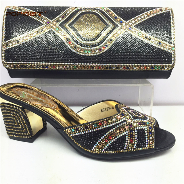 Red High quality New Fashion Italian Shoes with Matching Bag for Women Shoes and Bag Set African Set Shoes for Women Summer Shoe