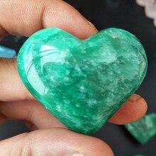 35-45g 100% natural amazon stone crystal heart feng shui quartz healing