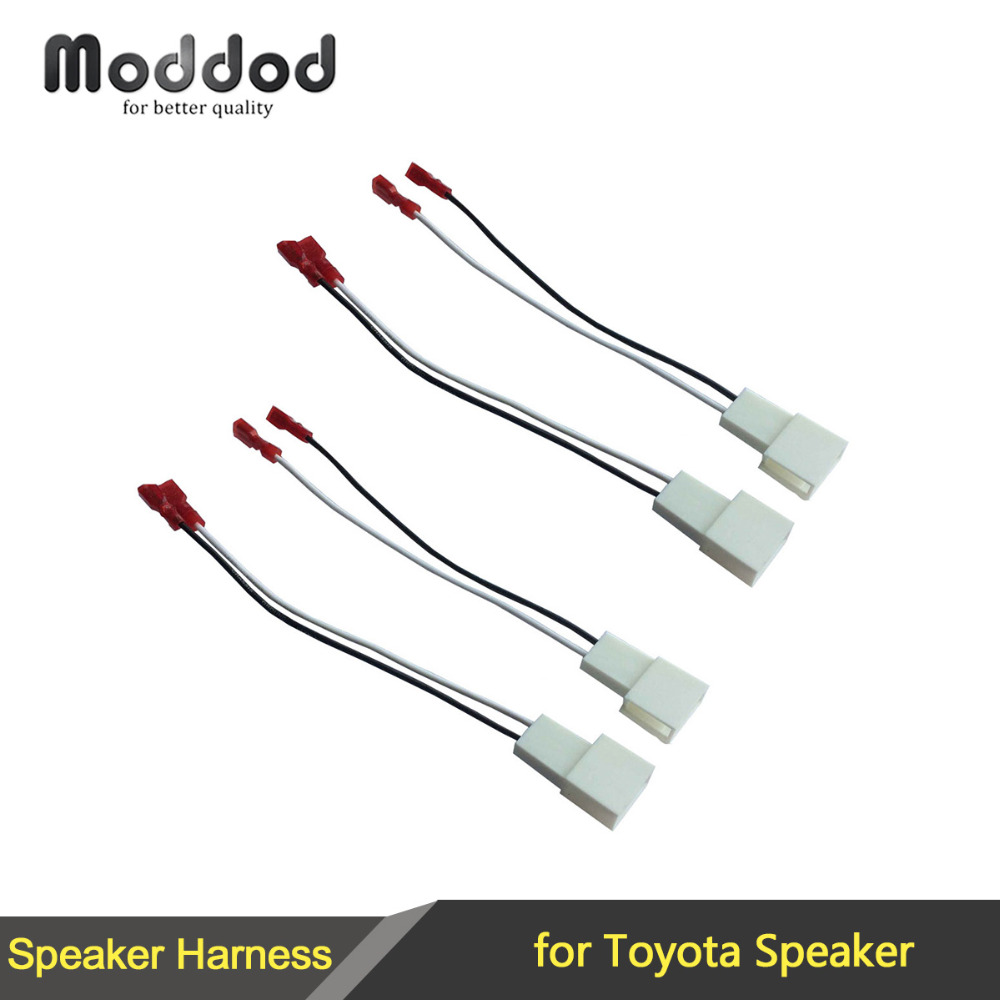 For Toyota Speaker Wire Harness Connects Aftermarket to OEM Adapter Plug Set Connector Wiring Cable Adaptor for toyota speaker wire harness connects aftermarket to oem toyota speaker wire harness at mifinder.co