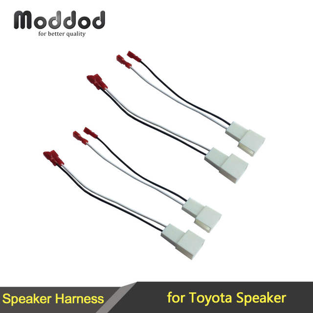 us $2 4 6% off for toyota speaker wire harness connects aftermarket to oem adapter plug set connector wiring cable adaptor in cables, adapters \u0026 Speaker Wire to RCA Cable