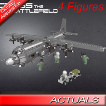 MOC XINGBAO 06023 Military Series The AC130 Aerial Gunboat Plane Model Building Blocks 1713PCS Bricks Toys(China)